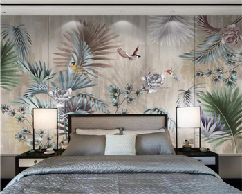 beibehang custom wallpaper high fashion modern fashion hand painted beauty shop barber background wall mural photo 3d wallpaper beibehang  Photo wallpaper mural hand-painted Plant leaves fashion 3d living room study TV background wall 3d wallpaper tapety