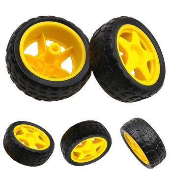 Durable Smart Robot Tracker Car Rubber Chassis Wheel for Arduino Replacement Accessories image