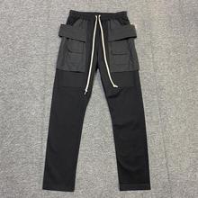 Owen Seak Men Casual Pants Gothic Men's Harem Sweatpants Cargo Autumn Cross Lightweight Women Solid Loose Black Pants Size XL