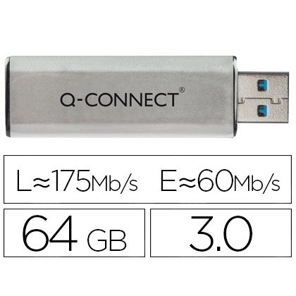 USB MEMORY Q-CONNECT FLASH 64 Hard GB 30