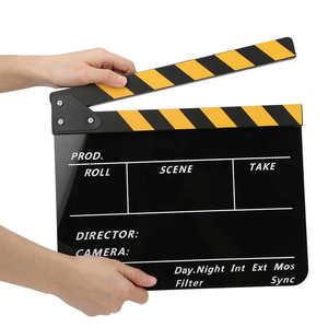 Acrylic 30x25cm Clapperboard Director Movie Clappers Film and Television Photography Prop