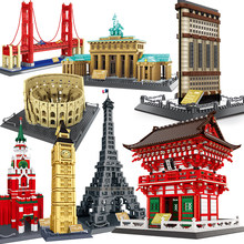 Şehir mimarisi modeli yapı taşları stüdyo tapınak Taj Mahal Big Ben eyfel kulesi londra New York almanya inşaat oyuncakları