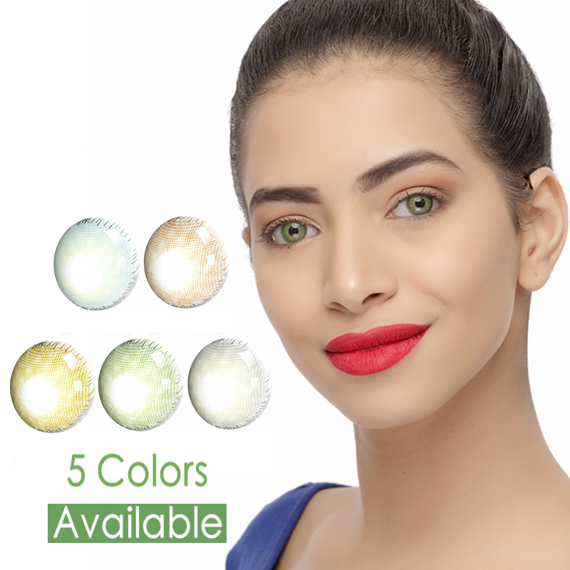 Premium Colored Contacts With Lenses Degree Annually Myopia Power Prescription Colored Contact Lenses With Power