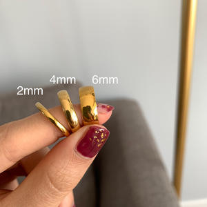 Knuckle-Rings Tarnish-Free Stainless-Steel Gold-Plated Minimalist Silver-Color 18K Women