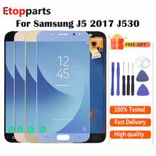 Regulowana jasność dla Samsung J5 2017 wyświetlacz J530 J530F wyświetlacz LCD z ekranem dotykowym Digitizer zgromadzenie J530 J530f LCD tanie tanio FIRSTORE CN (pochodzenie) Pojemnościowy ekran 1280x720 3 For Galaxy J5 2017 J750 J530F LCD i ekran dotykowy Digitizer