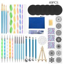 Фирменная Новинка 49 шт Мандала пунктирные инструменты для рисования