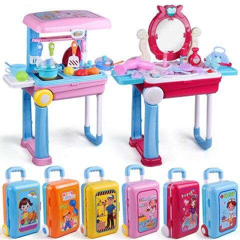 criancas simulacao familia brinquedos de cozinha acomodable iluminacao eletrica efeitos sonoros se casar trolley caso