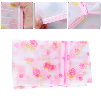 Printing Polyester Mesh Laundry Bag Home Use Washing Machine Bags Thickened Fine Net Bra Underwear Washing Bag Laundry image