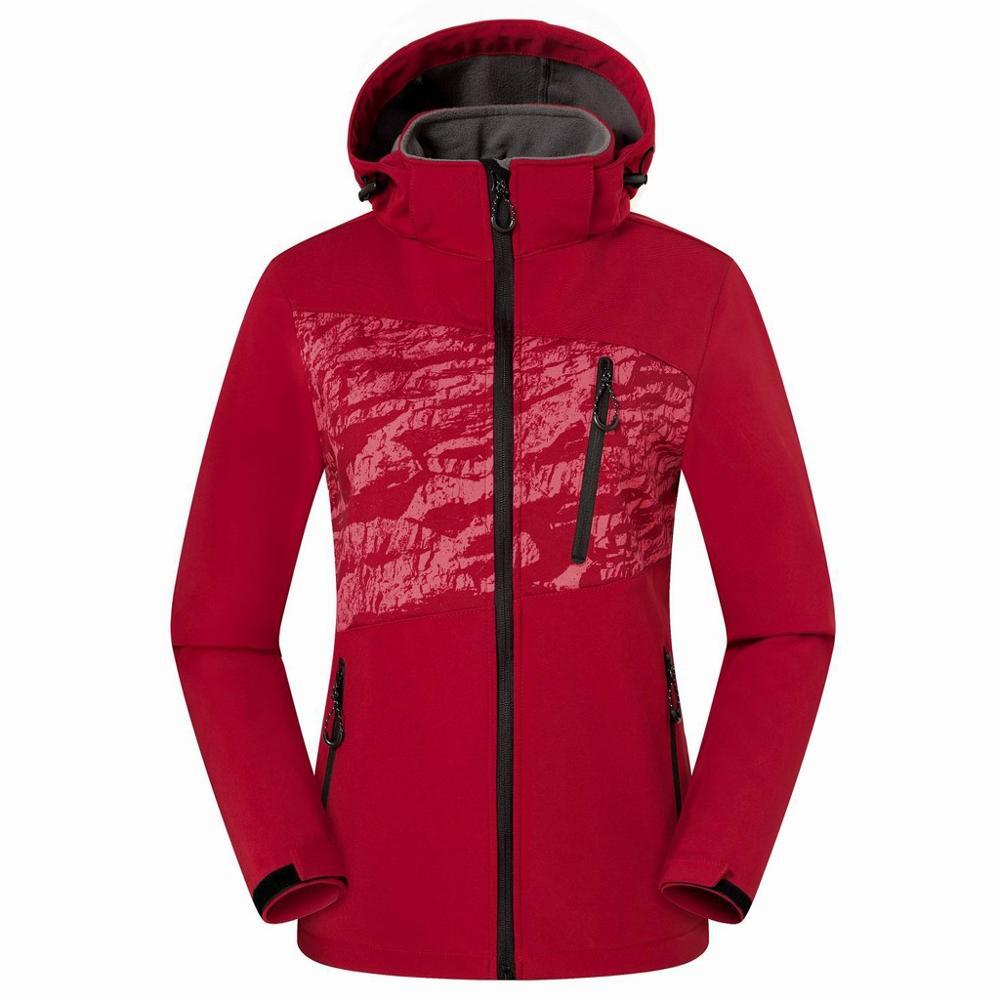 Womens Winter Windproof Thicken Ski Jacket Casual Fashion Keep-warm Fleece Jacket Sport Outdoor Coat Sportswear 2020