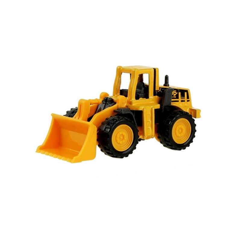 8 estilos mini liga de engenharia carro trator brinquedo caminhão basculante modelo clássico carros de brinquedo para crianças presente do menino