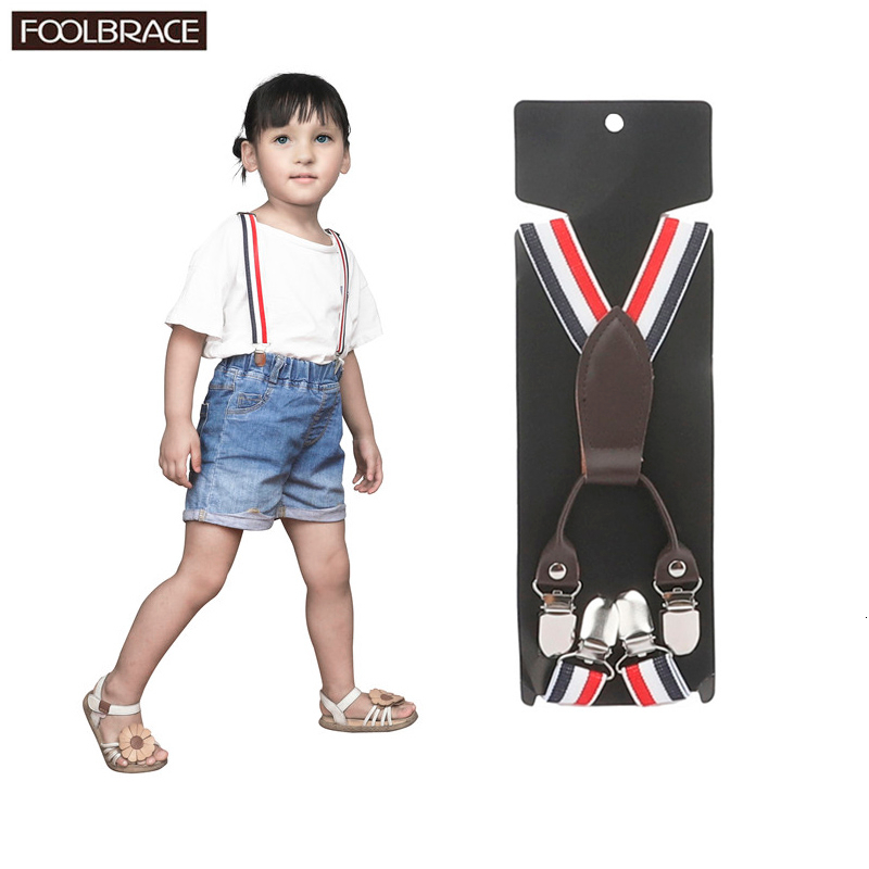 2.2cm Width Kids Elastic Suspenders Children Matching Tuxedo Suit Unisex Boys Girls Wedding Costume Adjustable Y-Back Braces