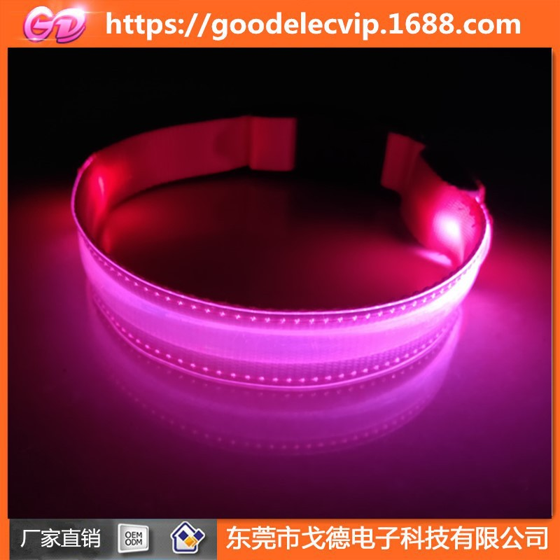 Pet Shining LED Neck Ring Dog Rope Chargeable Fishnet LED Shining Small Neck Ring