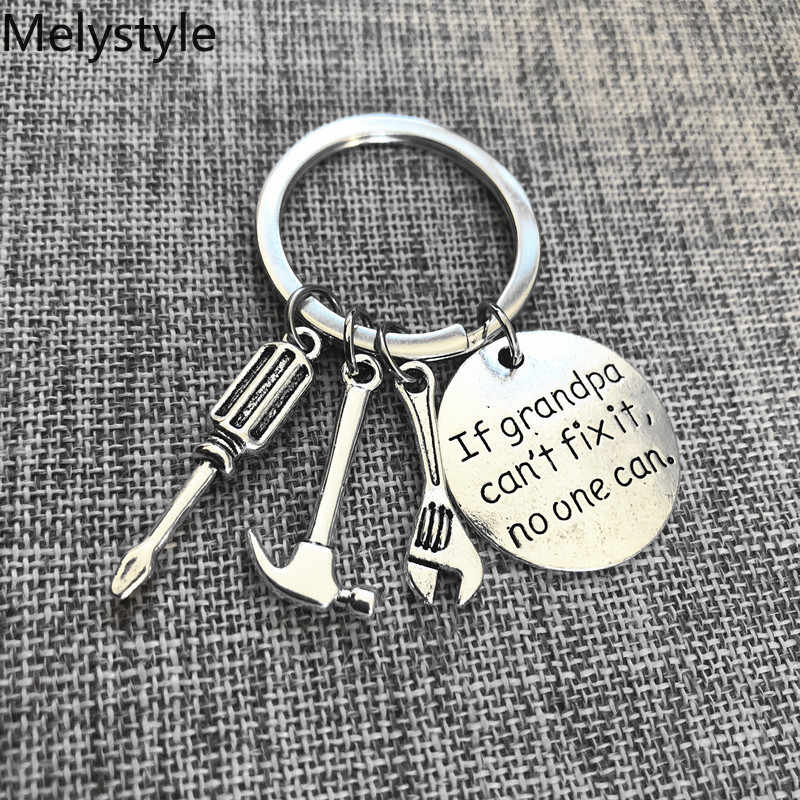 2019 ถ้าพ่อไม่ได้ Fix It NO-One สามารถ DIY เครื่องมือประแจกฎค้อน KEY CHAIN Key CHAIN แหวน KeyChain พวงกุญแจของขวัญ