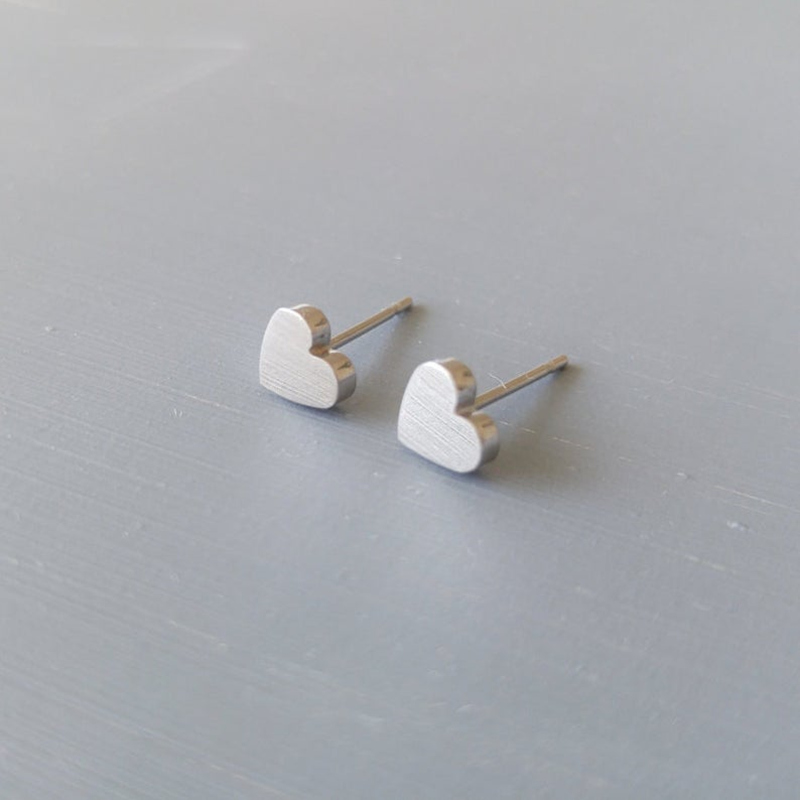 Lover's Brincos Love Heart Stud Earrings For Women Brudepiker Gave - Mote smykker