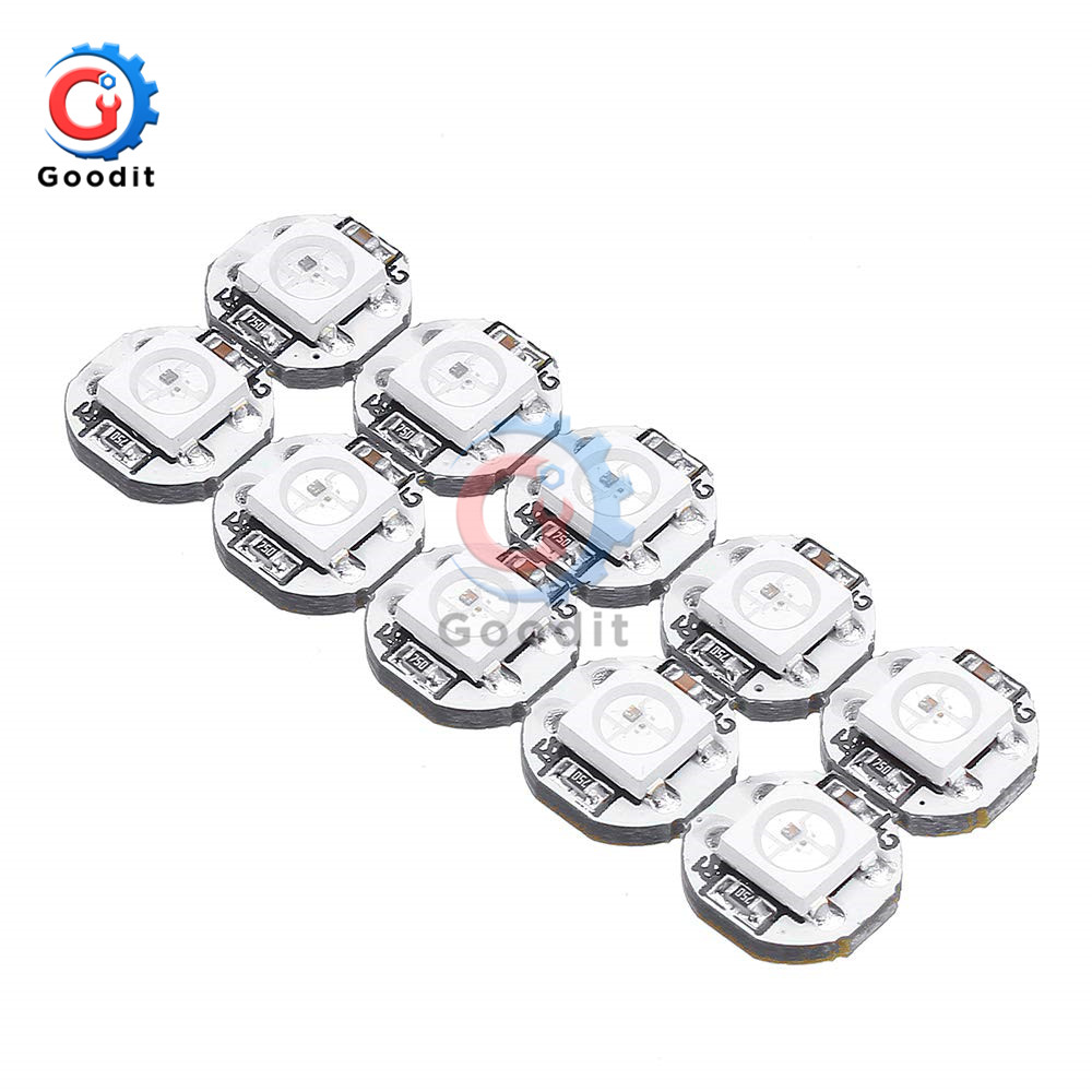 10PCS/Lot DC 5V 3MM X 10MM WS2812B SMD RGB LED Mini PCB Board 5050 Chip Built-in IC-WS2812 Top Quality Full Color Soft Lights