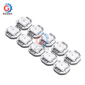 10Pcs DC 5V 3MM x 10MM WS2812B SMD RGB LED Mini PCB Board 5050 Chip Built-in IC-WS2812 Top Quality Full color soft lights