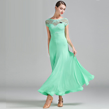 Ballroom-Dress Spanish Dance-Wear Dancing Woman Green Colors Lady