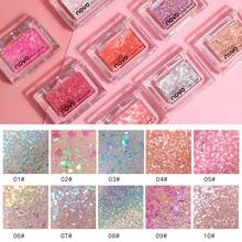 NOVO Brand Single Color Glitter Sequins Eyeshadow Palette Makeup Galaxy Shimmer