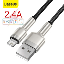 Baseus 2.4A USB Cable For iphone 12 Pro Max Fast Charging Type C Metal Data Mobile Phone Cable for iPhone USB Cable