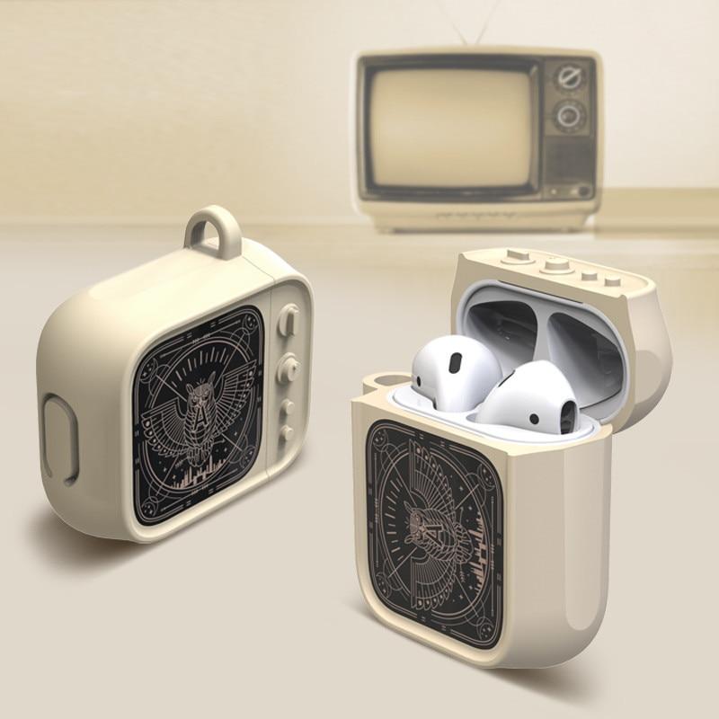 AirPods защитный чехол модный ТВ беспроводные Bluetooth наушники гарнитура Универсальный 1/2 поколение