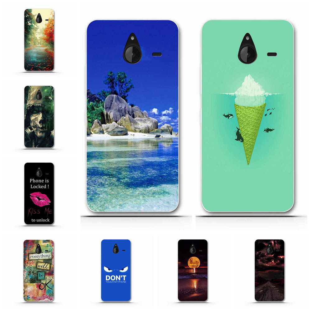 For Microsoft Lumia 640 XL Cover Soft TPU For Microsoft Lumia 640 XL Case Girl Patterned For Microsoft Lumia 640XL Shell Capa image
