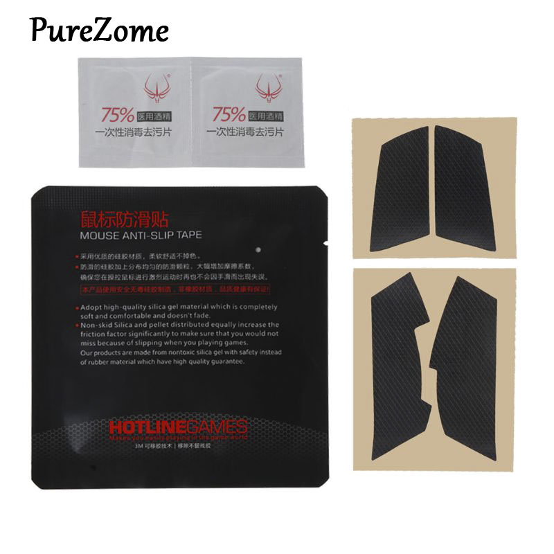 Original Hotline Games Mouse Skates Side Stickers Sweat Resistant Pads Anti-slip Tape For Logitech G102 G304 GPRO Wired Mouse