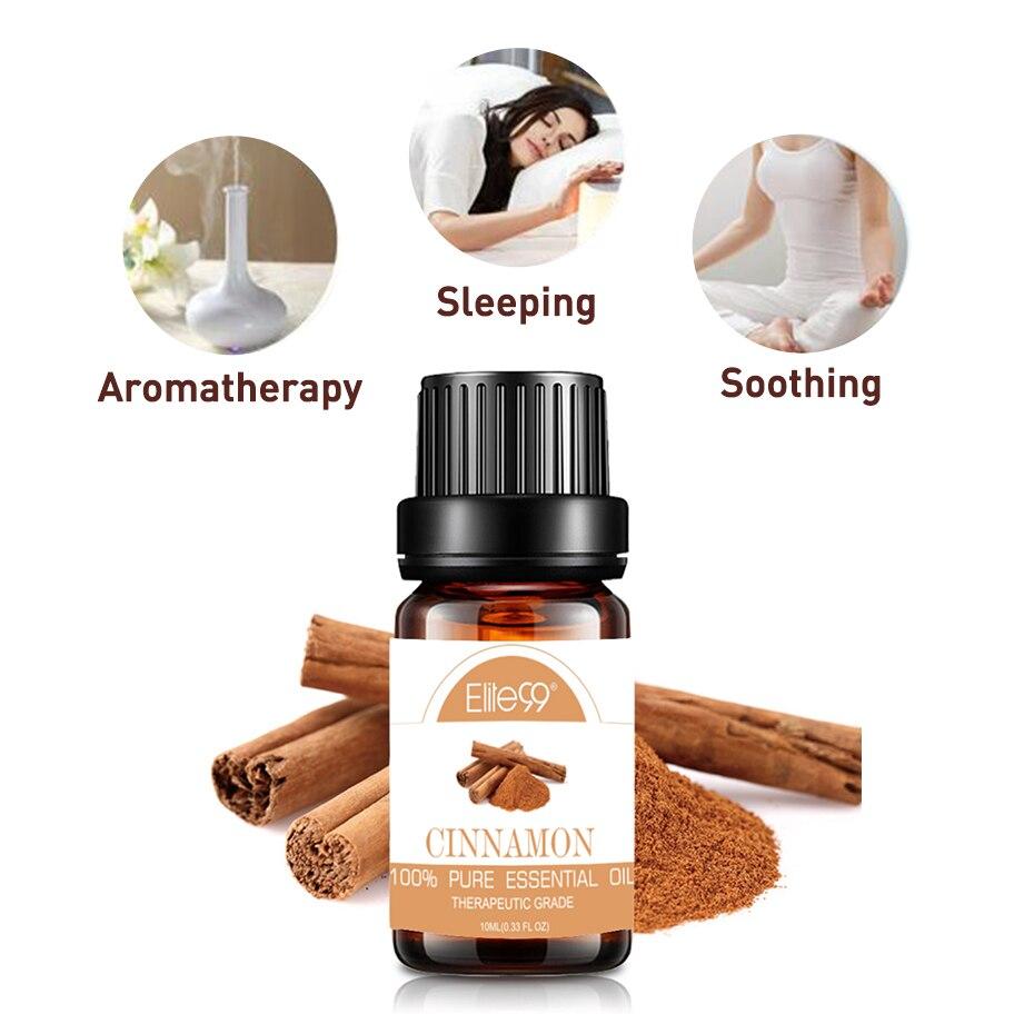 Elite99 10ml Zimt Ätherische Öle Helfen Schlaf Beruhigende Massage Körper Öl für Aromatherapie Diffusoren Duft Ätherisches Öl