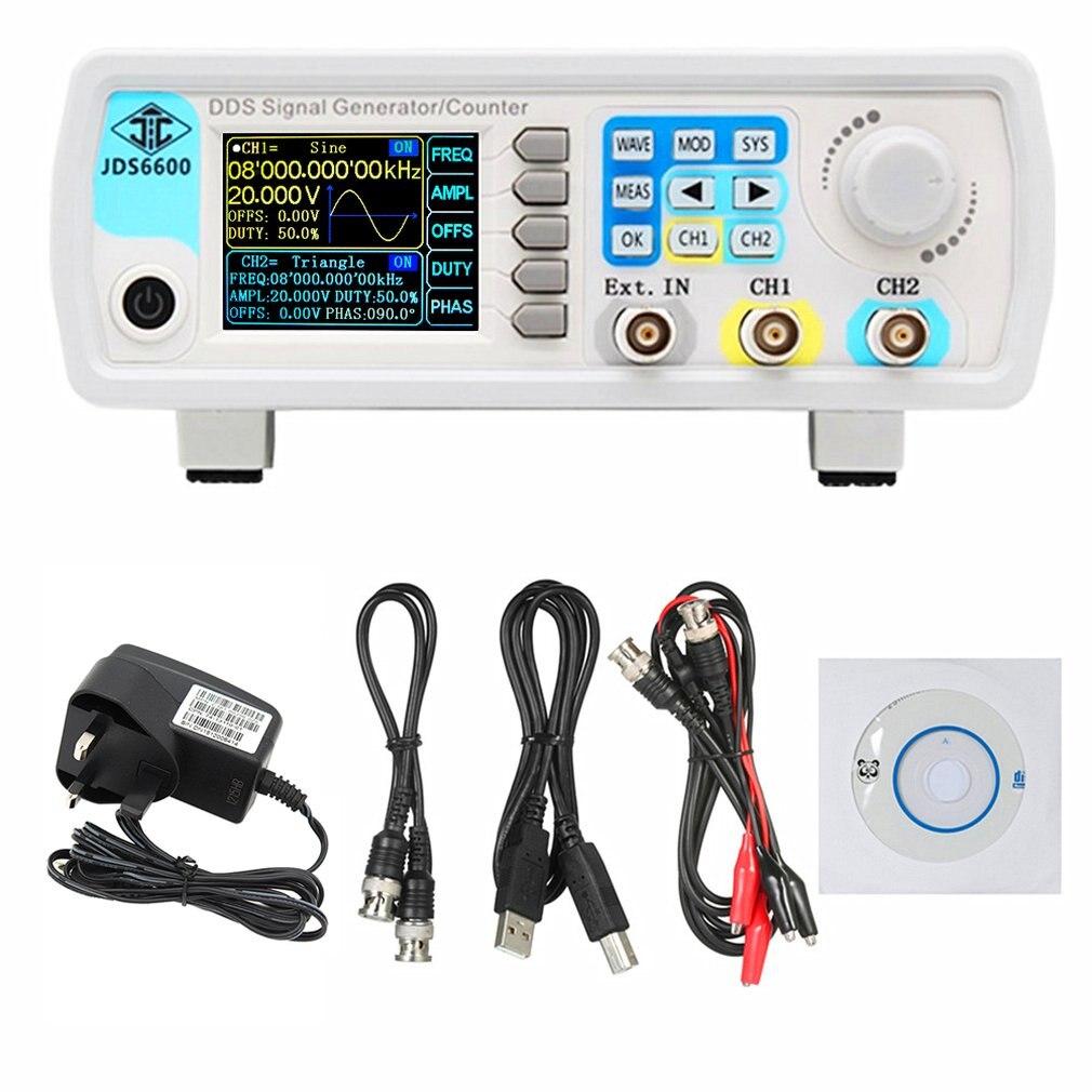 JDS6600US EU AU UK Plug 60MHz цифровой контроль DDS двухканальный произвольный сигнал генератор функциональных сигналов Частотный измеритель