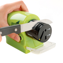 Kitchen Multifunctional Electric Knife Sharpener Swifty Sharp Motorized Knife Sharpener Rotary Whetstone Sharpening Stone Tools