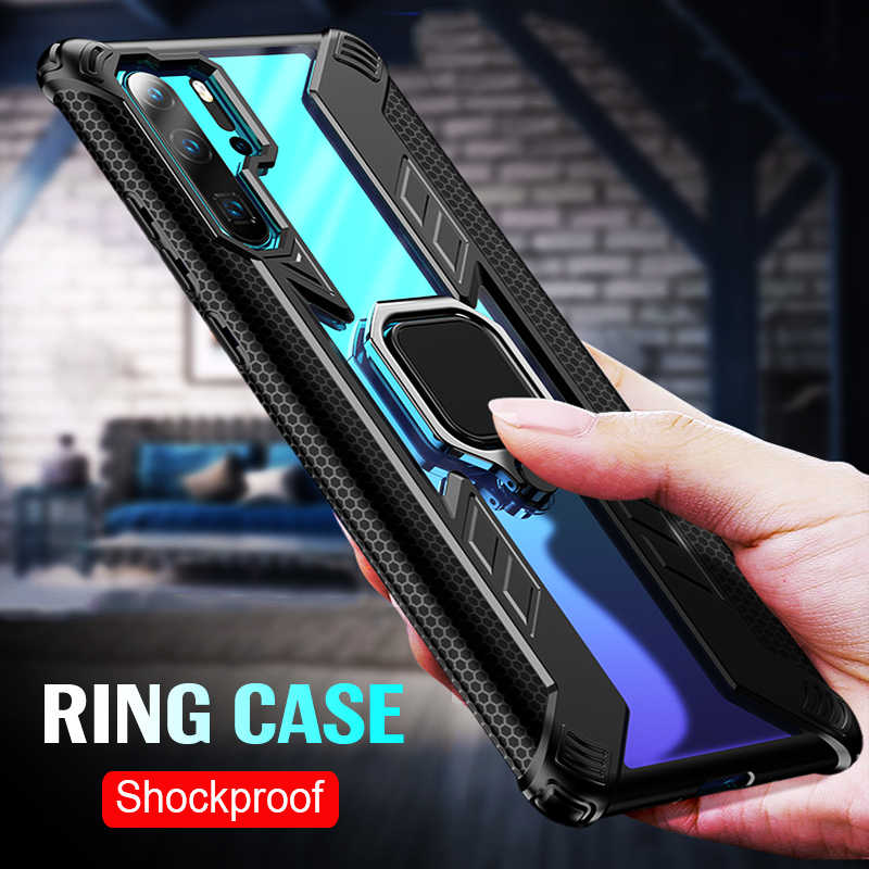 Shockproof Armor Phone Case For Huawei P30 Pro Case Magnetic Ring Stand Back Cover For Huawei Mate 20 Pro Shell Cases Coque