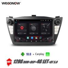 "8 ""DSP Android 10,0 4G + 128G Auto DVD Player GPS Karte Carplay 4G lassen sie WIFI bluetooth RDS Radio Für Hyundai Tucson IX35 2010 2015"