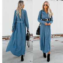 2019 Women's Basic Coat Holes Baggy Denim Jacket Long Sleeve