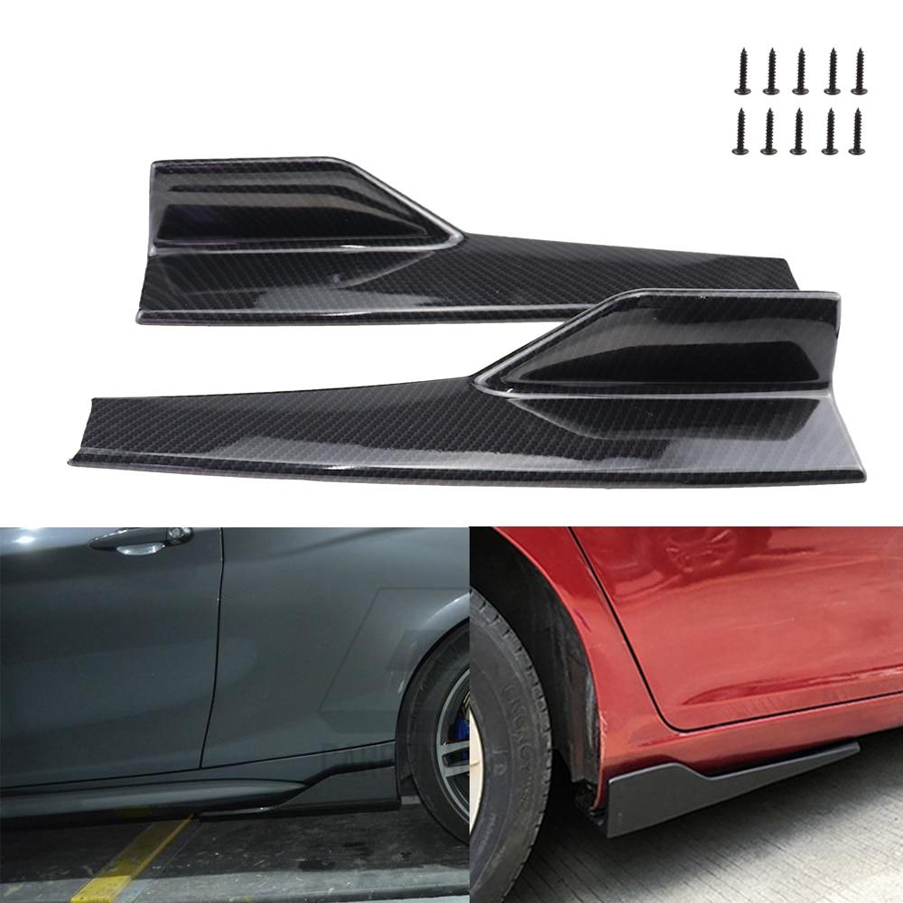 Car Side Skirt 2PCs 86cm Car Side Skirt Rocker Splitters Diffuser Winglet Wings Bumper Car Body Styling Kit