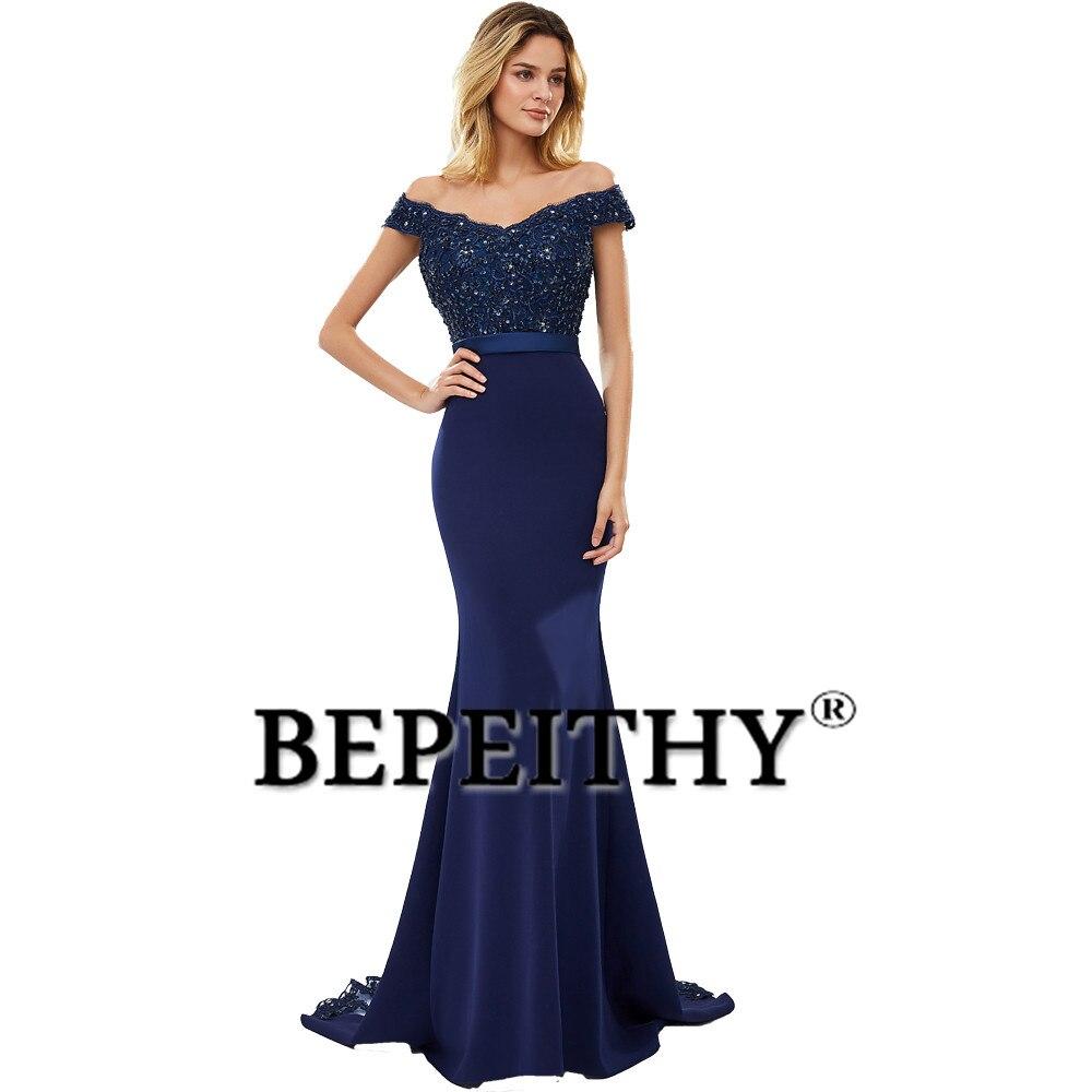 BEPEITHY Robe De Soiree Mermaid Burgundry Long Evening Dress Party Elegant Vestido De Festa Long Prom Gown 2019 With Belt