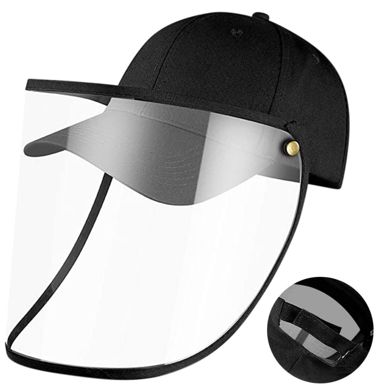 Helmet Anti-Spitting Droplet Adjustable Full Face Covering Cap Protective Cover Shield Adult Kid Outdoor Safety Anti Spray Hats