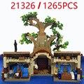 Новая серия медведя дерева дом в наличии совместим с 21326 конструкторных блоков, Детские кубики модель детские образовательные игрушки пода...