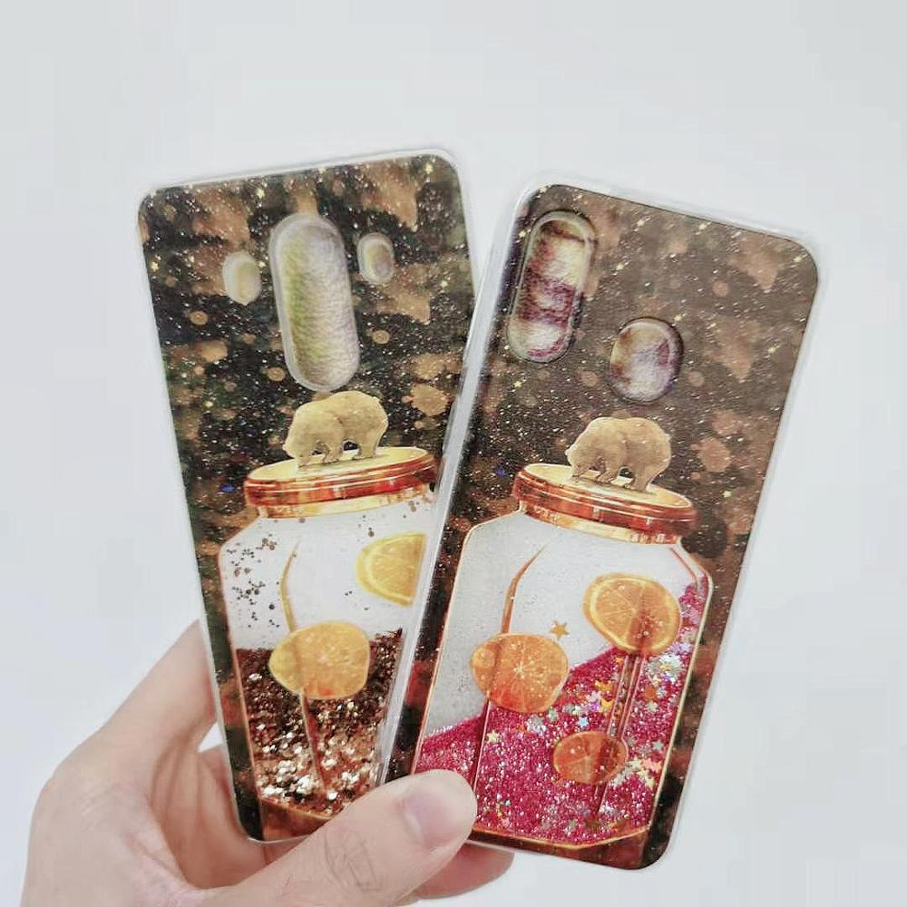 Купить с кэшбэком Quicksand Dynamic Liquid Nail Phone Case For Samsung Galaxy S10 S9 S8 S5 S6 S7 Edge Plus 5G S10E Note 10 Pro 9 8 5 4 3 TPU Cover