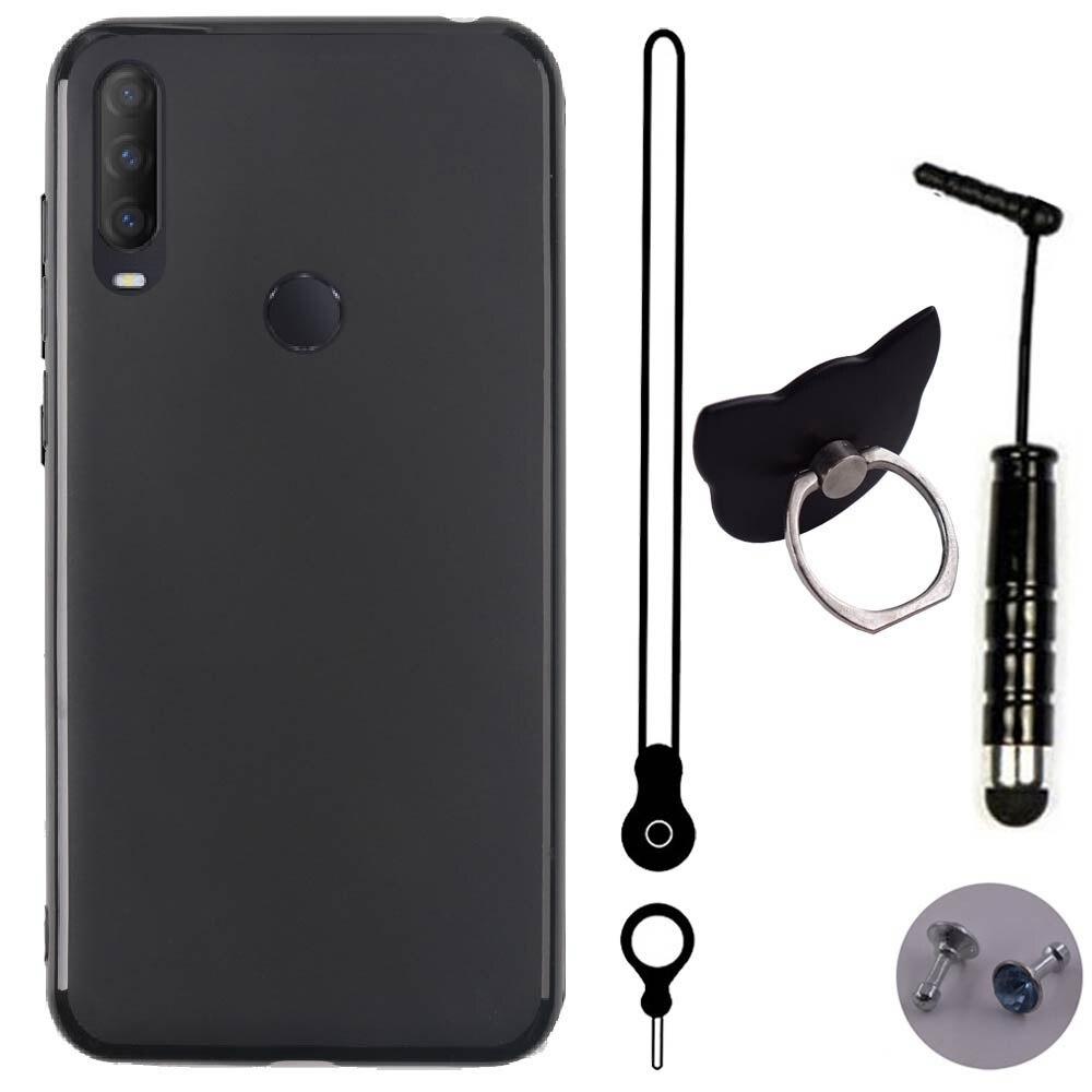ITien защитный силиконовый из ТПУ чехол для телефона для SFR Altice S43 6,22 дюймов шнурки ручка с кольцом гель в виде ракушки Etui кожа