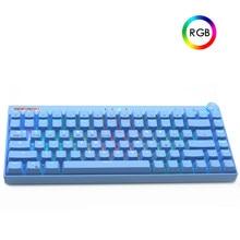 84 Keys RGB Backlit Outemu Switch Gaming Mechanical Keyboard Hot Swappable Bluetooth/2.4GHz Wireless Gamer Keyboard Blue Switch