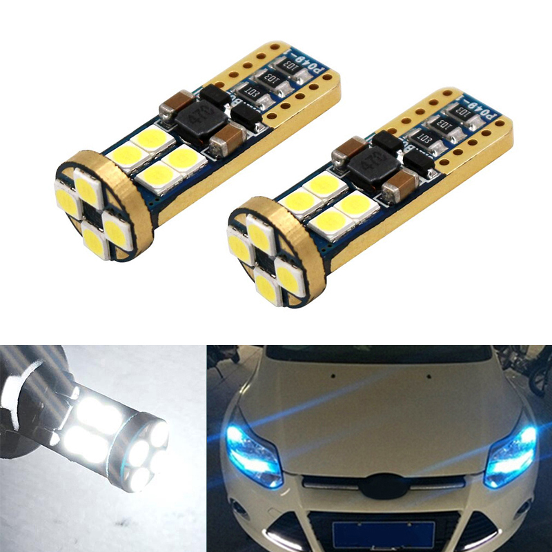 2X Canbus Car LED T10 W5W 12LED Parking Light For Ford Fiesta Focus 2 1 Mondeo 4 3 Transit Fusion Kuga Ranger <font><b>Mustang</b></font> KA S-max image