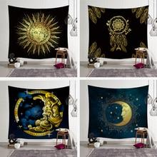 Indian Mandala Wall Hanging Tapestry Sun Moon Throw Rug Blanket Yoga Mat Carpet Home Decor Cloth Hippie Decoration