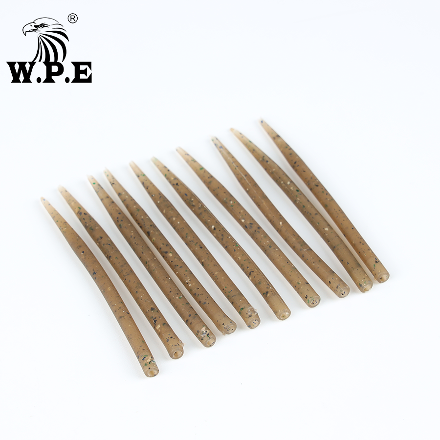 W.P.E 1Set/10/20/30/50pcs Carp Fishing Hook Sleeve Anti Tangle Rubber Carp Fishing Accessories Terminal Tackle Hair Rig Pesca