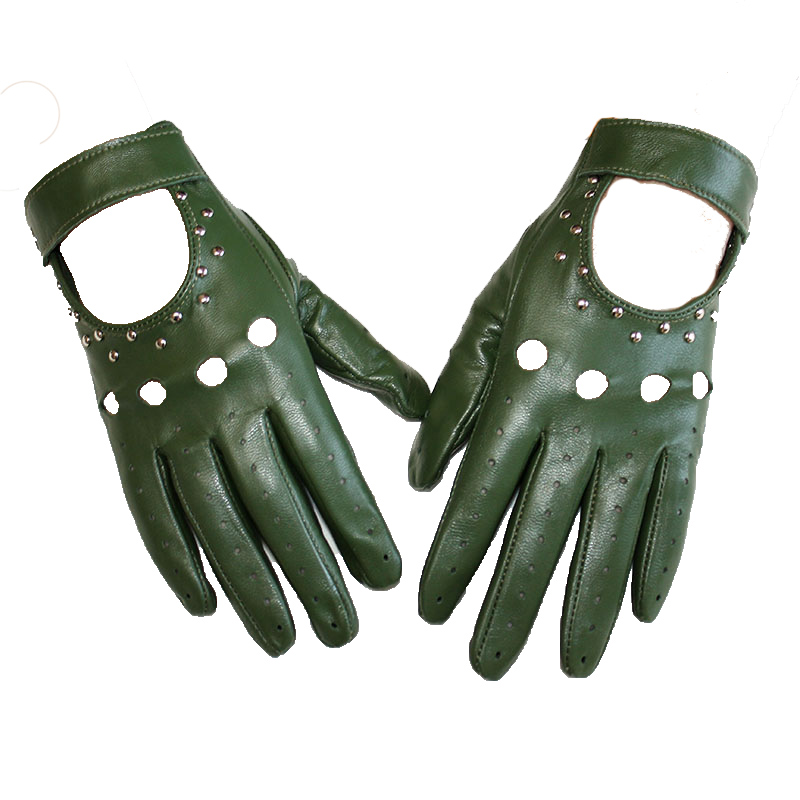 Goatskin New Leather Gloves Women Thin Style Single Layer Sheepskin Fashion Breathable Spring And Summer  Driving Gloves