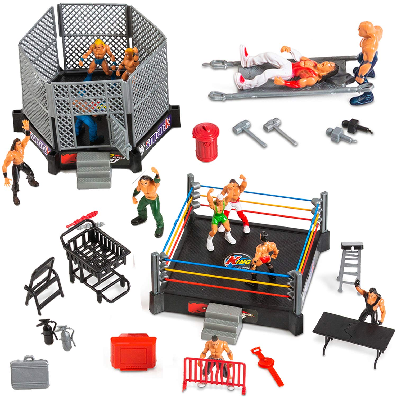 Wrestling Toys For Kids WWE Action Figures Elite Wrestlers Warriors Toys Undertake Ring & Realistic Accessories Fun Miniature