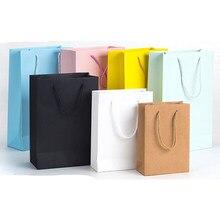 10 pcs new arrival Kraft shopping paper bags Custom Gift Packing Ten sizes Available Custom