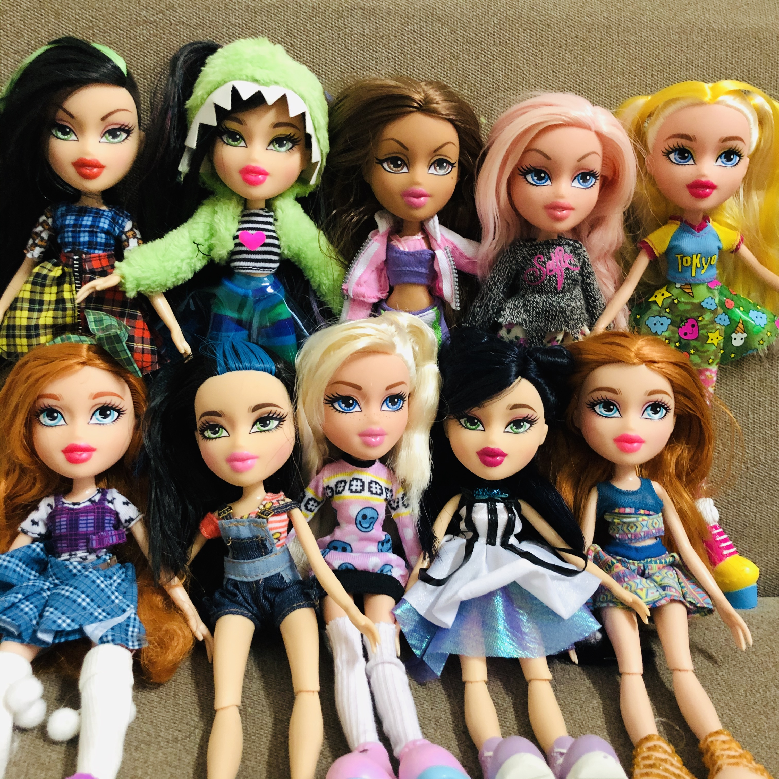 Original New 23cm Original Fashion Action Figure BratzDoll Slumber Party YASMIN Red Hair Beautiful MGAdoll Best Gift For Child