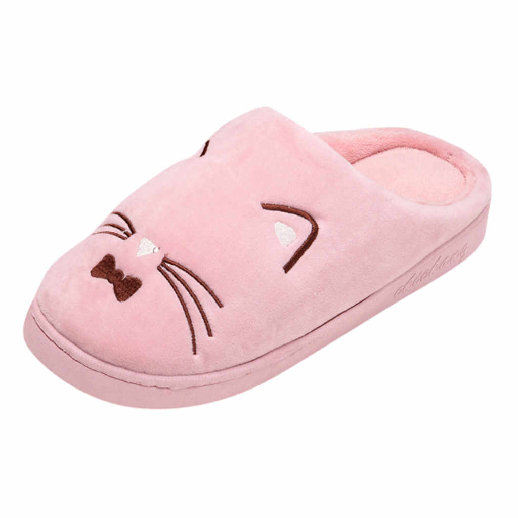 shoes woman Cat Non-slip Floor Home Slippers Indoor Shoes Home Slippers Man Winter Warm Cotton-padded Slippers zapatos de mujer