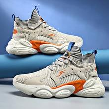 Zapatos de moda para hombre, zapatillas ligeras informales de malla, Tenis masculinos, zapatillas de deporte altas, 2021