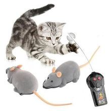 Funny Cat Electric Toy Wireless Remote Control Simulation Mouse with Pink Ear
