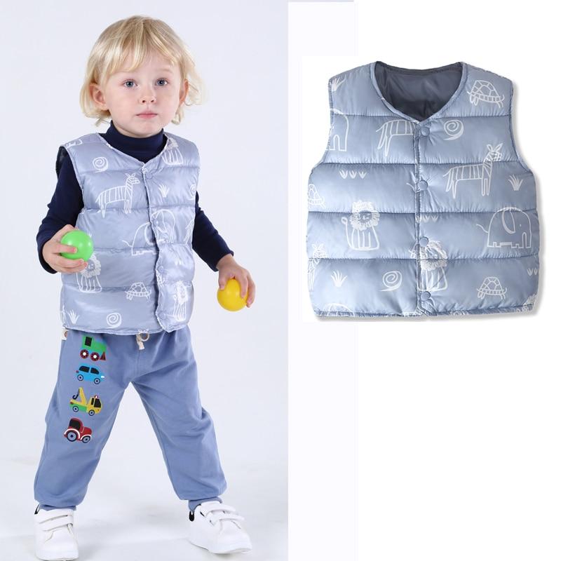 Жилет для маленьких мальчиков и девочек верхняя одежда новорожденных пальто